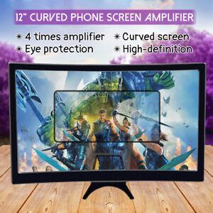 Telephone-de-Loupe-Portable-3D-ecran-Incurve-HD-Video-Amplificateur-Support