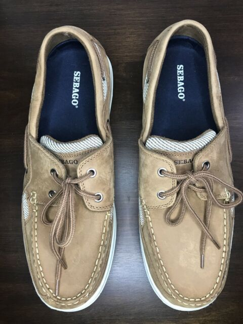 Sebago Bar Harbor Walnut Mens Casual Boat Shoes Mens Size 13M Wide Excellent