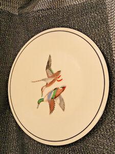 Lenox-Game-Plate-Gold-Mark-USA-Mallard-Ducks-8-25-inches