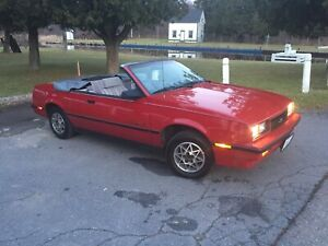 1987 Chev Cavalier  Convertible LOW KMS