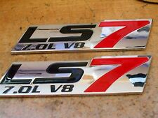 CHEVROLET CORVETTE LS7 7.0L 7.0 427 V8 FENDER TRUNK EMBLEMS BADGE SET RED 5 1/2""