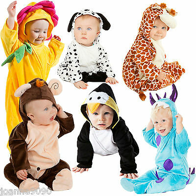 *Deluxe Boys Girls Baby Grow Cute Toddler Animal Dalmatian Fancy Dress Costume*