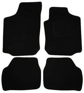SAAB 9-3 93 CONVERTIBLE (2003 ON)  4  FIXING HOLES Tailored Car Floor Mats Black