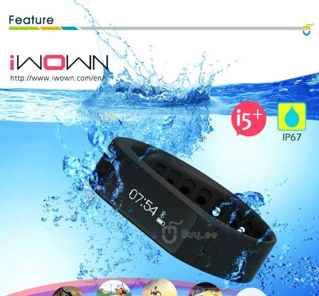 Bluetooth 4.0 Smart Armband Sport Smartwatch Schrittzähler Wasserdicht Schwarz
