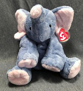 TY PLUFFIES 2002 Elephant WINKS Plastic eyes