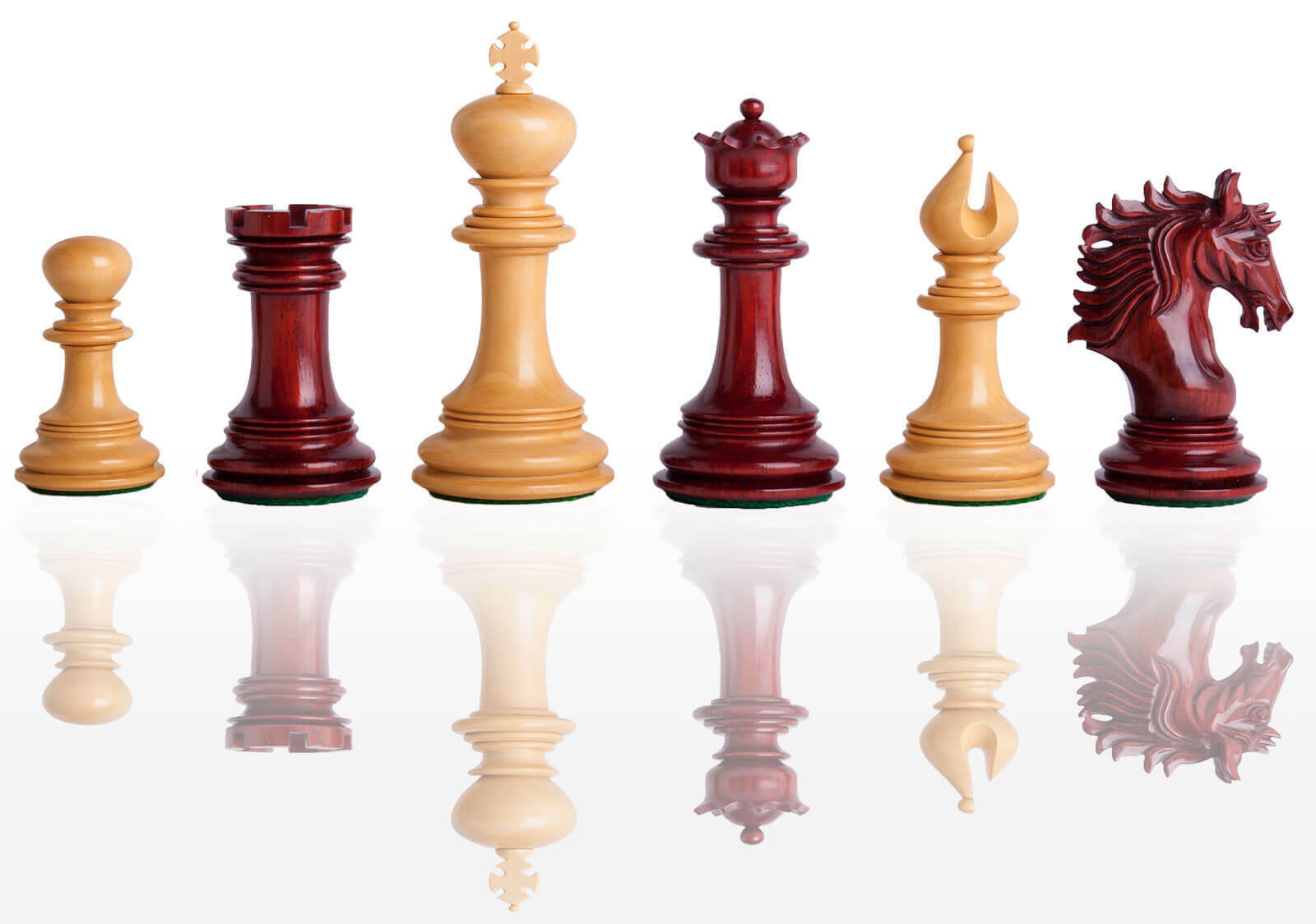 USCF Sales The Bolzano Luxury Chess Set - Pieces Pieces Pieces Only - 4.4  King - Blood pinkwo 060cdc