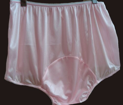 Adult Sissy Pink Tricot Panties w// Large Mushroom Double Gusset Made High Waist