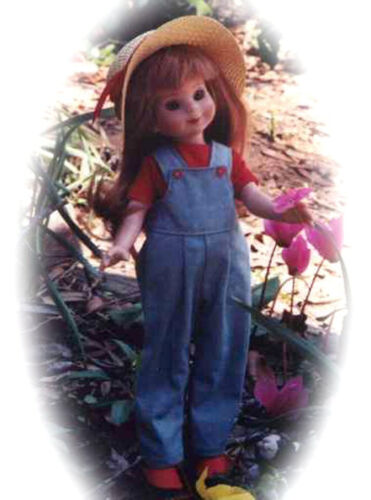 """OVERALL FUN PATTERN FOR 10/"""" TONNER PATSY /& 13/"""" EFFNER OR BETSY MCCALL"""