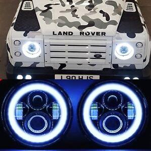 Land Rover Defender 90 110 130 Led Halo Headlamp