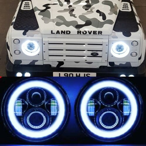 Land Rover Defender 90 110 130 DEL Halo Feux Phares High//Low Beam 2004