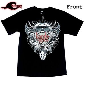 Lamb-Of-God-Skeletal-Wings-Metal-Band-T-Shirt