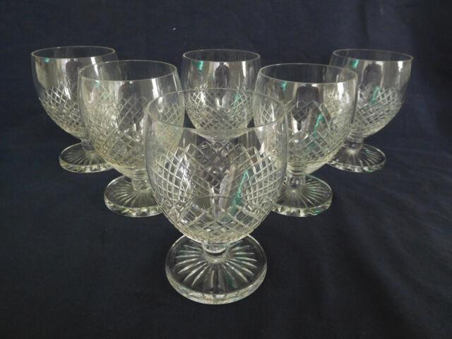 ST SAINT LOUIS 6 verres à vin forme Ballon modèle Tacite SIGNES 7,8cm