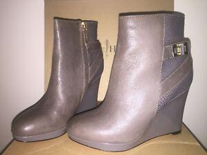 COLE HAAN Wedge B, Leder Ankle Stiefel, Sz 5.5 B, Wedge Grau, Martina d186e1