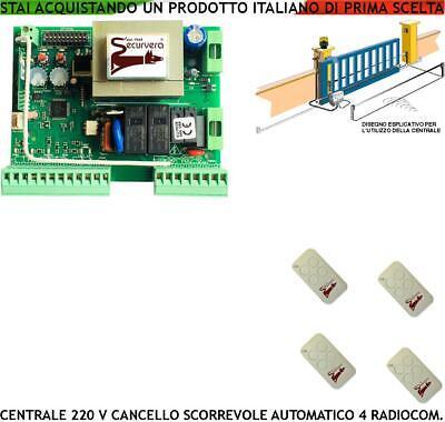 Centrale Comando Cancello Scorrevole Motore 20 V 550 W Gibidi Came 4 Radiocomand Ebay