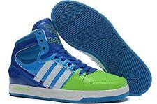 Men's Adidas Court Attitude Originals BLUE Green Trainers Q99390 US Size 11 NIB