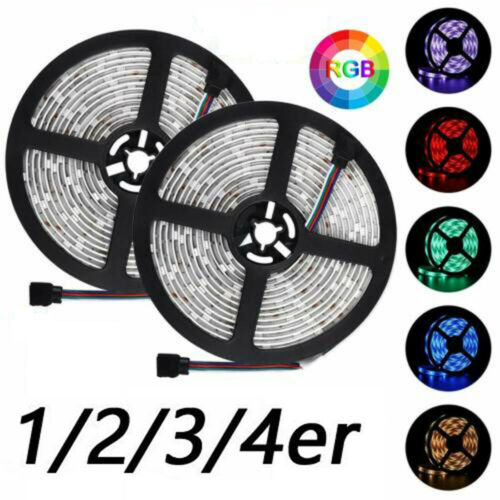 12V RGB Led Streifen Stripe 5m 10m 20m Band Leiste 5050SMD Lichtband 30leds IP20