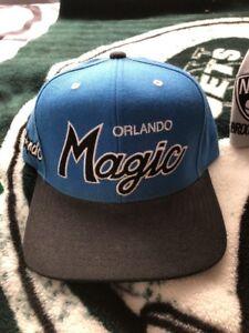 Image is loading Mitchell-amp-Ness-Orlando-Magic-Script-SnapBack-Hat 4e0e6c0617c6