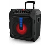 Powerful 200-W FM Radio Portable Bluetooth Wireless Speaker LED Light Display