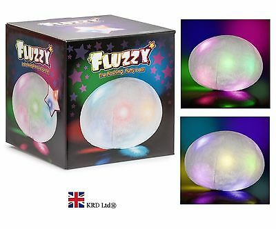 Light Up FUZZY BALL Kids Baby Room Sleep Aid Sensory Autism ADHD Fidget Calm Toy