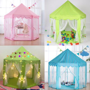 Children-Kids-Play-Tent-Fairy-Princess-Girls-Boys-Hexagon-Playhouse-House-UK