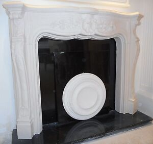 F22-Louis-Carrington-No2-Fire-Surround-in-Plaster-BIRMINGHAM-COLLECTION-ONLY