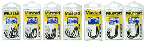 12 Mustad 10827NPBLN Hoodlum 10//0 Assist Jigging LiveBait hook Mustad Patch
