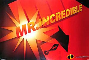Die Incredibles (Einzel Seiten) Advance Mr Incredible) Original Filmposter