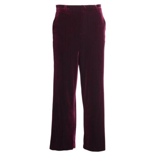 Ship Free! Women/'s Girl/'s Burgundy Velvet Wide Leg Pants New