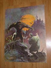 Vintage Frank Frazetta Poster Werewolf wolfman dracula vampire