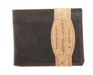 RFID-NFC-Geldboerse-Naturleder-Bueffelleder-Brieftasche-Kartenschutz-Portmonai