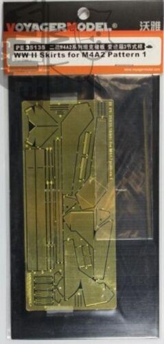Voyager 1:35 WWII M4A2 Skirts Pattern 1 PE Metal Detail for DML Dragon #PE35135