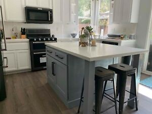 Details about *6ft Gray color kitchen island without counter top(US Made,  custom available)*