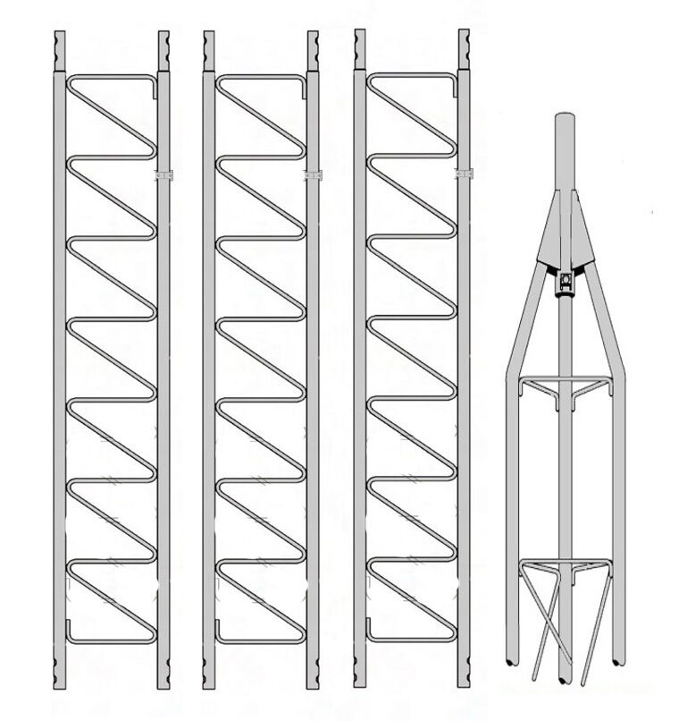 antennapartsoutlet1 ROHN 25G 35' Self Supporting Tower with 25AG Top Section w/ Set Screw, Bushing