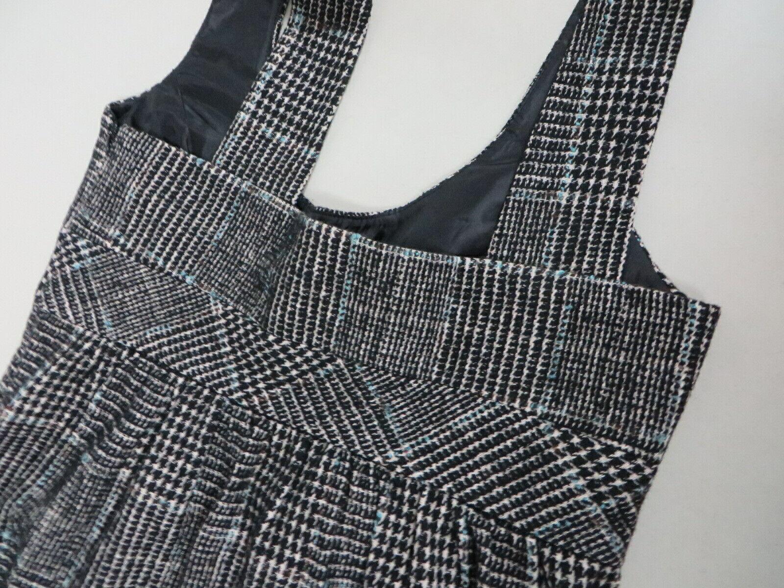 ZARA BASIC Wool blend Tweed Checkered Tartan  Bla… - image 7