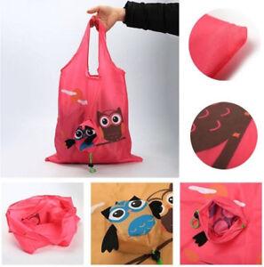 ECO-Eule-Tasche-Wiederverwendbar-Lebensmittel-Tragetasche-Einkaufstasche-faltbar