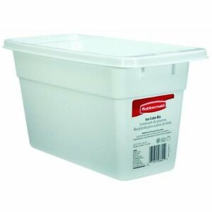 Rubbermaid White Ice Cube Bin Container Storage