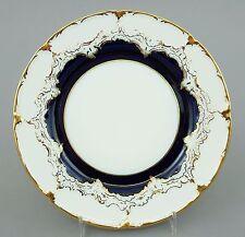 Meissen Teller, B-Form, kobaltblau und Gold, Höhe 1,5 cm, D=19 cm, 1.Wahl #1/2