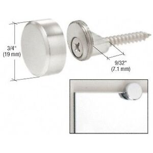 CRL Chrome Brass Round Mirror Edge Fixings Clips Brackets ...