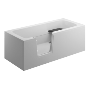 Badewanne mit Tür links und integrierter abnehmbarer Sitzbank für Senioren 170cm