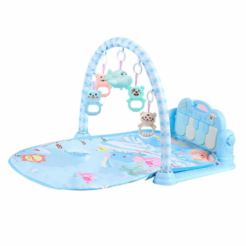 3 in 1 Baby Light Musical Gym Play Mat Lay Play Fitness Fun Piano Toy for Kids