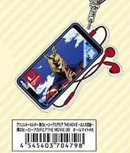 My-Hero-Academia-All-Might-Phone-and-Earbuds-Acrylic-Key-Chain-Anime-Manga-NEW