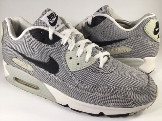 Nike Air Max 90 Premium Picnic White Grey Black Mens Size 12 Rare 700155 100