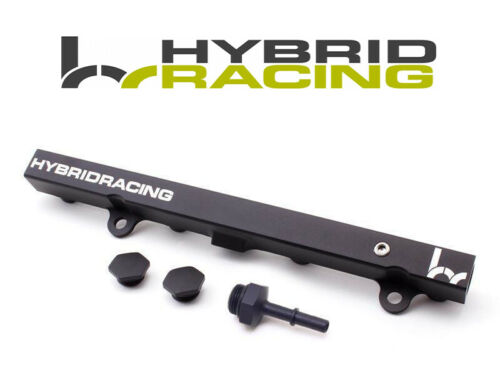 HYBRID RACING BLACK FUEL RAIL FOR DC5//EP3 EFI FITTING RSX 02-06//CIVIC SI 02-05
