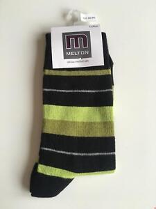 SALE /% /% MELTON Socken Streifen Hellgrün 250010 NEU
