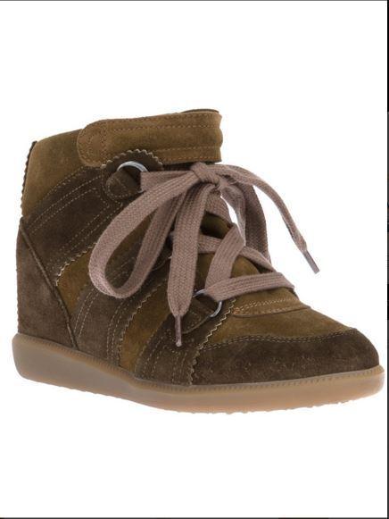 Isabel Marant Khaki blueebel blueebel blueebel Baskets Wedge Sneakers Trainers UK 7 Net a porter ef5d61