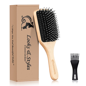Hair-Brush-Sosoon-Boar-Bristle-Paddle-Hairbrush-for-Long-Thick-Curly-Wavy-amp