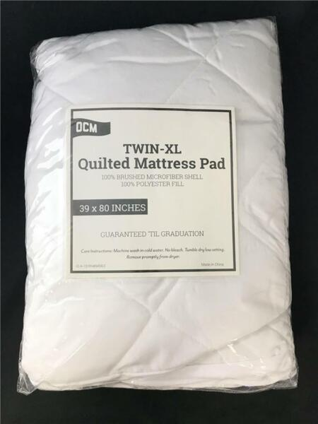 ** Ocm Twin-xl Quilted Mattress Pad 39 Inches X 80 Inches New Hot Sale 50-70% Korting