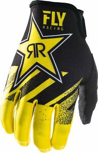 Fly-Racing-2019-Lite-Hydrogen-Rockstar-Gloves-Yellow-Black-Adult-Mens-Offroad-Ri