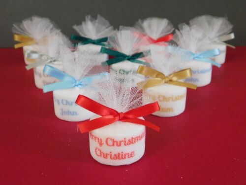 Christmas Personalised Candle Tealight Table Decoration Place Setting Pack 15
