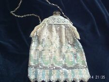 ANTIQUE MESH VINTAGE PURSE HANDBAG WHITING DAVIS ACCESSORIES JEWELRY DECO ERA